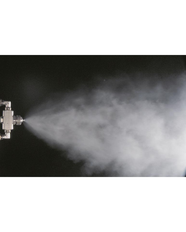 Atomisation de fumée liquide par air comprimé
